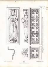 Gothic Le Mans St Julian Tomb Of Queen Eleanor Plan Of Effigy Mouldings