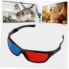 5x Black Frame Red Blue 3D Glasses For Dimensional Anaglyph Movie Game DVD