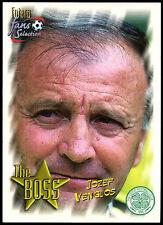 The Boss Jozef Venglos Celtic FC #96 Futera 1999 Football Trade Card (C344)