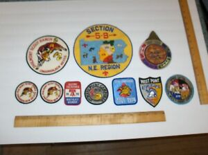 Vintage (10) Item Mixed Boy Scouts Patches = Includes Various Shapes and Sizes