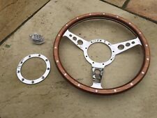 triumph tr6 Woodrim Classic Steering Wheel 13 Inch semi dished 9 Hole Fixing