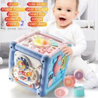 Baby Toddler Multifunctional Learning House Activity Play Cube Center Music