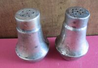 Sterling Silver w/ Glass Liners Salt & Pepper Shakers Weighted Creation S#4
