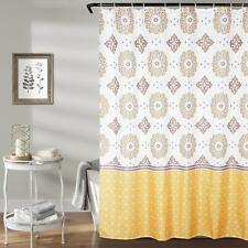 Yellow White Floral Boho Shabby Chic Farmhouse Gorgeous Fabric Shower Curtain