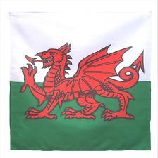 """Wales Flag 21"""" x 21"""" (54cm x 54cm) Kerchief Head Scarf Bandana"""