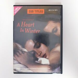 A Heart In Winter DVD Region 4 PAL Free Postage - Arthouse Drama