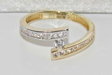 9ct White & Yellow Gold 0.25ct Ladies Engagement Ring size K - UK Hallmarked