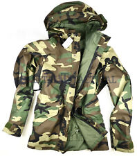 New USGI Army Goretex Water Proof Jacket Gen I BDU Woodland MR Medium Regular
