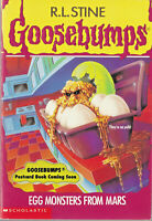 Goosebumps #42 EGG MONSTERS FROM MARS R L Stine PB Book Vintage 1996 1st Edition