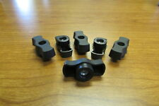 Black Plastic M6 Female Thread T Type Shaped Head Clamping Nuts Knob Made in USA