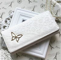 Butterfly Clutch Checkbook Purse Money Clips Change Bag Women Handbag Wallet