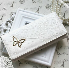 Butterfly Clutch Checkbook Purse Money Clips Change Bag Women Handbag Wallet