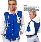 Felpa Giacca College da Donna Baseball Varsity Old School Jacket Moda Football