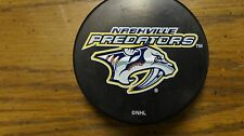 Nashville Predators Hockey Puck Paper weight stocking stuffer souvenir In GlasCo