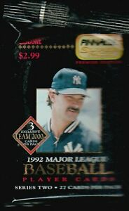 1992 PINNACLE BASEBALL PACK~~27 CARDS PER PACK--DON MATTINGLY on Cover!!