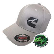 Dodge Cummins Med. Gray Flexfit Hat ball cap fitted flex fit stretch new L  6de2babf909d