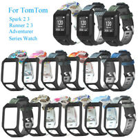 aire Brazaletes de silicona flexible For TomTom Spark Runner 3 2 Series Watch