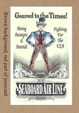 SEABOARD  WWII  UNCLE SAM GEARED TO TIMES DEPOT STATION FL GA SC NC AL VA