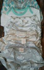 Newborn 0-3 3-6 Months Baby Boy Girl Long Sleeve Sleeper Gowns Pajama lot 5