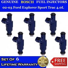 6x Genuine Bosch Fuel Injectors 02 03 Ford Explorer Sport Trac 40l 0280156029