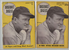 AUG AUGUST 1946 BASEBALL DIGEST very rare Special Ballpark Edition extra pages!!