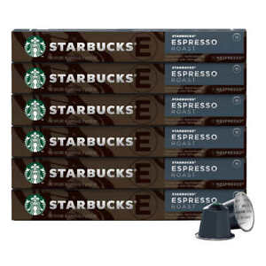 Starbucks Nespresso Espresso Roast Coffee Capsules 60 Pods EXP 05/2021