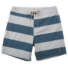 2017 NWT MENS CAPTAIN FIN EL BULL BOARDSHORTS $55 32 blue grey stripe swimsuit