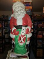 Vintage Santa w Bag Grand Venture Blow Mold Christmas Yard Light Decoration 39""