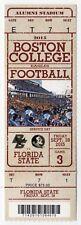 2015 BOSTON COLLEGE Eagles NCAA College Football Ticket Stub FLORIDA STATE FSU