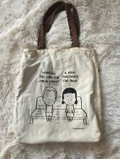 Reversible Angry Little Girls By Lela Lee Canvas Bag w Comic Cartoon message