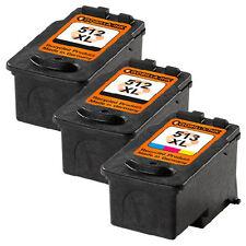 3 Druckerpatronen XXL für Canon PG-512 & CL-513 Pixma MP280 MP230 MP240 MP250