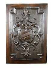 Antique French 19th.C Hand Carved Wood Wall Panel