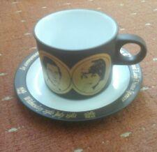 HORNSEA ROYAL WEDDING SOUVENIR COFFEE CUP AND SAUCER 1981