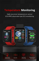 ECG Heart Rate Blood Pressure Body Temperature Monitoring Smart Watch Sport Band