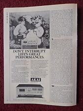 1978 Print Ad AKAI GXC-730D Stereo ~ Charles Bragg ART Life's Great Performances