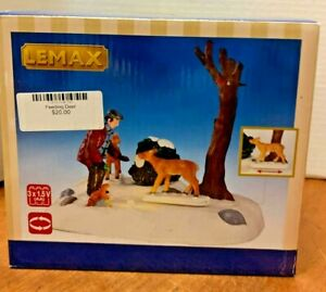 LEMAX  Feeding Deer#34629Lighted Animated Table Accent2013