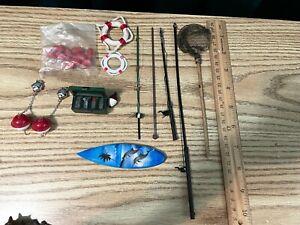 dollhouse miniatures - LOT of fishing gear 1:12