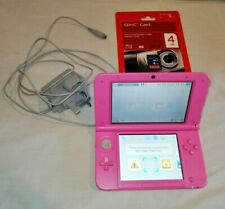 Pink Nintendo 3DS XL Charger And 4 Gb SD Card