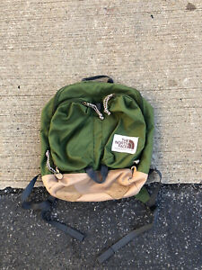 The North Face Brown Label Green Tan Brown Mini Backpack Book Bag USA