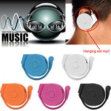 Portable Mirror Mini USB Clip Over Ear Digital Mp3 Player SD TF Music Media UK