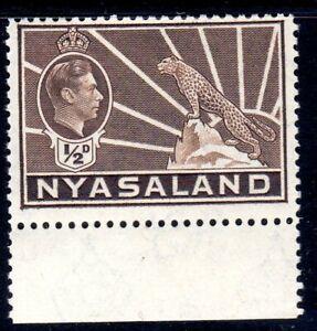 NYASALAND--  1942   - sg 130a    1/2d brown   mnh um