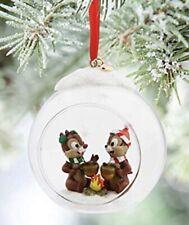 NIB Disney Chip And Dale Globe Sketchbook Christmas Ornament 2015