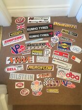 5 GENUINE MOTORSPORT RELATED RALLY DRIFT TOOL BOX STICKER DECALS SELECTION