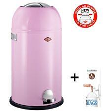 Wesco Kickmaster 33L Pink Rosa Treteimer Design Mülleimer Soft Close +Müllbeutel