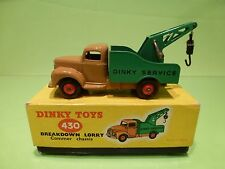 DINKY TOYS 430 BREAKDOWN LORRY COMMER CHASSIS - BROWN  GREEN - EXCELLENT IN BOX