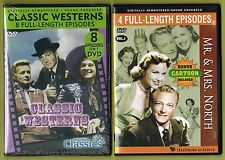 Classic Television - 12 Shows on 2 DVDs - Classic Westerns / Mr. & Mrs. North