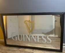 """Large Guinness Mirror ONE OF A KIND! Approx. 35"""" x 58"""" Irish Pub Bar Back"""