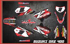Suzuki DRZ400 DRZ 400  SEMI CUSTOM GRAPHICS KIT DETOX1