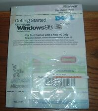 Microsoft Windows 98 SE SEALED CD & Floppy w KEY Full Install SECOND EDITION
