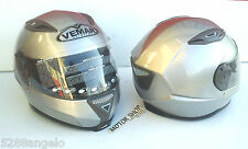 FULL-FACE HELMET FIBER SIZE XXL 63-64 VEMAR GEO PRO SILVER READ DESCRIPTION